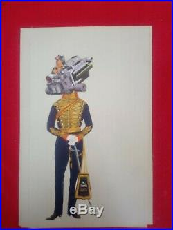 13 Original Art Collages by James Oliver Steampunk Military Cyborgs