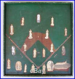 1924 Folk Art Baseball Diamond withplayers. Oakland Pierce Giants, Negro Leagues