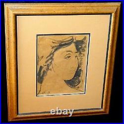 1955 Hawaii WC Wash Painting Hawaiian Woman by Madge Tennent (1889-1972)(ScD)