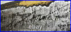 1971 Bernhard Rohne ABSTRACT BRUTALIST METAL Wall Sculpture Hand Signed/Dated