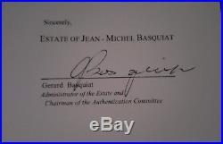 1983 Jean Michel Basquiat Mixed Media Postcard, COA, provenance included