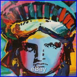 1993 PETER MAX $5k Statue of Liberty LIBERTIES Signed Serigraph Painting w COA
