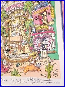 1996 Charles Fazzino The Flinstones Break Rock Vegas AP 10/50 Las Vegas Strip