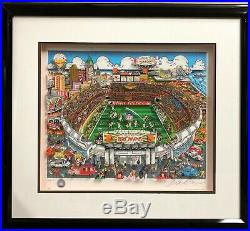 2D Pop Art Charles Fazzino CLEVELAND BROWNS Stadium Artwork