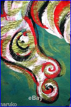 34x 24 Horse Painting In Mixed Media By The Hand Of Chucho Reyes Ferreira