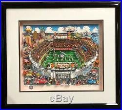 3D Pop Art Charles Fazzino Cleveland Browns Stadium Artwork