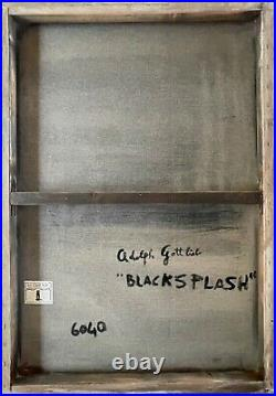 ADOLPH GOTTLIEB- oil and acrylic on canvas of 60's-