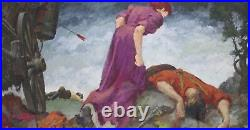ALBERT H SCHMIDT-Chicago Impressionist-Original Signed Mixed Media-Western Scene