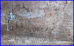 ALVIN HOLLINGSWORTH-Black NY Modernist-Original Signed Mixed Media-Surreal Dream