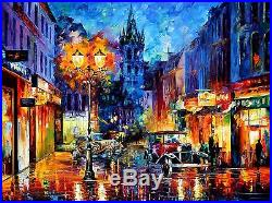 AMSTERDAM 1905 Limited Edition Mixed Media/Giclee on Canvas by Leonid Afremov