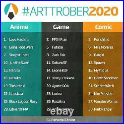 ARTTROBER 2020 ANNA ZHUO Original Art Angewomon Digimon