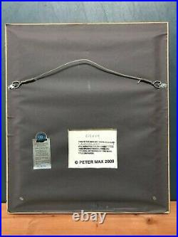 A Better World PETER MAX Limited Mixed Media (Overpaint) Tru Vue UV Glass