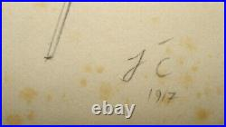 Abstract from 1917 Monogrammed J. C. (Josef Capek)