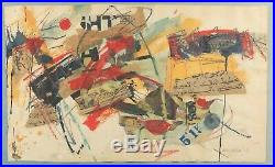 African-american Sam Middleton Original Painting Abstract Expressionism 1963