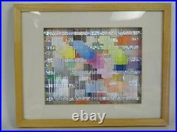 Agam Style Signed 1987 Martin Kaplan Kinetic Dimensional Abstraction Art Vibrato