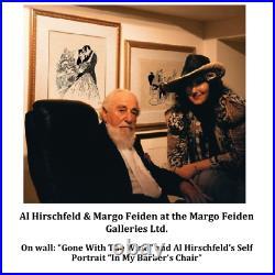 Al Hirschfeld's HUMPHREY BOGART and INGRID BERGMAN in CASABLANCA