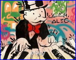 Alec Monopoly Piano Monopoly 2013 Huge Original Mixed Media 48x60 Gallart