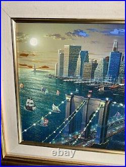 Alexander Chen Brooklyn Bridge 21x27 Embellished Framed Ltd Ed 147/250