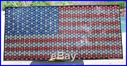 American Flag Beer Bottle Cap Bar Art Artwork wallmount Independence 4th of July