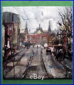 Amsterdam Study 3 Original Impressionist Mixed Media Oil Painting Paul Mitchell