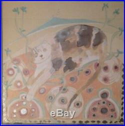 An Original Ponckle Mixed Media Painting Of Boris The Cat Cornish Art St Ives