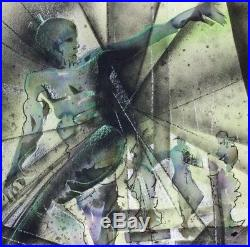 Andy Bueso, original mixed media painting, Puerto Rico