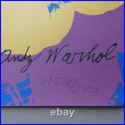 Andy Warhol Flowers, Lithografie, signiert & nummeriert, 60 cm x 60 cm