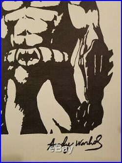 Andy Warhol Original Signed Ink & Mixed Media Batman-coa-provenance