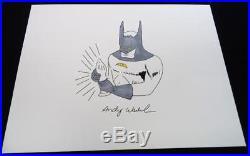 Andy Warhol Original Signed Ink & Watercolor Mixed Media Batman