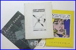 Andy Warhol, Roy Lichtenstein & Jasper Johns Rare Press Kits from the 1980s/90's