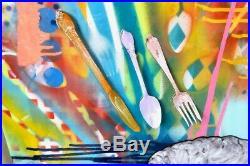 Anthony Bourdain Eat Well Original Painting Pop Modern Signed Art Chef Cook