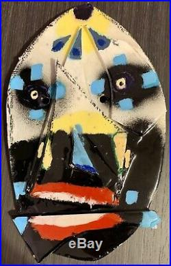 Anthony Lister Mask 2015 Mixed Media Signed & Dated on Back