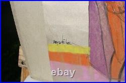 Anya Fisher California Artist 1905-1992 Abstract Nudes Painting, Jewel like