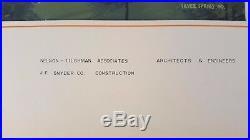 Architectural Original Mixed Media HERMITAGE WOODS CONDOS (MD) C. 1970
