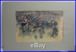 Arnaldo Coen'64 Surreal Abstract Mixed Media Listed Mexican Modernist Artist
