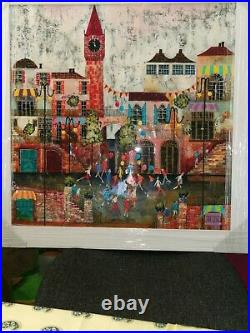 Art by Rozanne Bell'Town House' an original painting by Rozanne Bell
