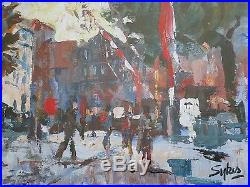 Aubrey Sykes, French Street Scene in Savoy, Signed Original, Mixed Media