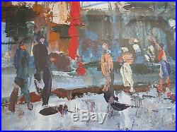 Aubrey Sykes, French Street Scene in Savoy, Signed Original, Mixed Media
