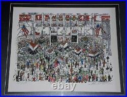 Auth Charles Fazzino Signed New York Stock Exchange 3d Artwork #350/475 Art