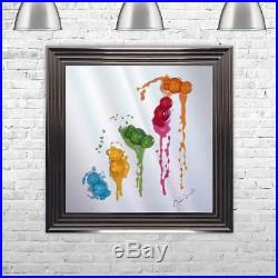 BABIES FALL Multi Colour Liquid Art Jelly Babies JAKE JOHNSON 75cm x 75cm