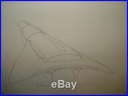 BERNIE WRIGHTSON original art, I AM NUMBER 4, Spaceship, horror, 11x14