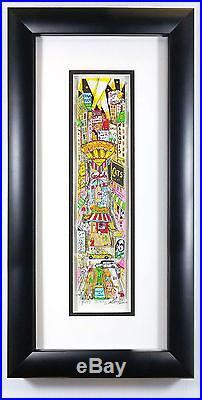 B-Way Charles Fazzino 3-D Pop Art Framed Broadway NY Cats Phantom Reg Ed. S/O