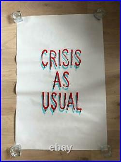 Banksy Original Genuine Gross Domestic Product Crisis as Usual Screenprint Art