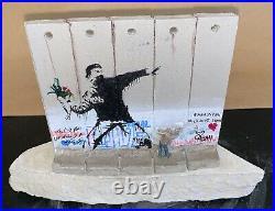 Banksy Walled Off Hotel Flower Thrower Sculpture, Receipt (Matching Edition COA)