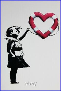 Banksy x Post Modern Vandal Girl With Heart Shaped Float Louise Michel + COA