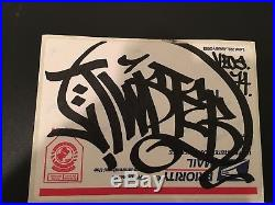 Barry Mcgee TWIST Unpeeled sticker Graffiti Handstyle Ray Fong Obey Kaws Banksy