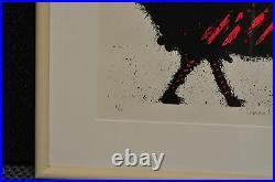 Basil Hadley Tomcat Framed Lithograph Original Signed