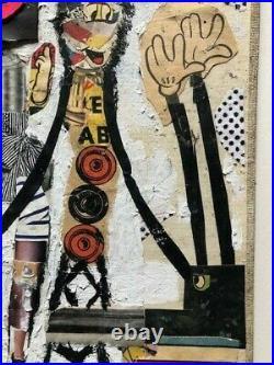 Bast Original Mixed Media on Canvas not Fairey, obey, kaws, faile, invader