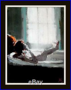 Bath Nude & Light b Original Impressionist Mixed Med Oil Painting Paul Mitchell