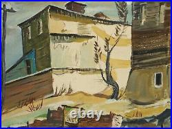 Behind the Houses Mixed Media (Oil & Gouache) Painting-1930s/40s-Louis Bosa
